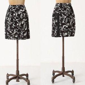 Anthropologie Leifsdottir Silk Floral Skirt Size 6